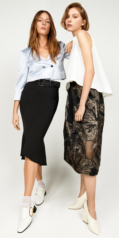 Skirts | Metallic Jacquard Skirt