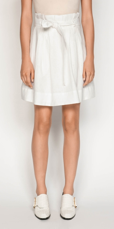 Skirts  | Belted Linen Skirt