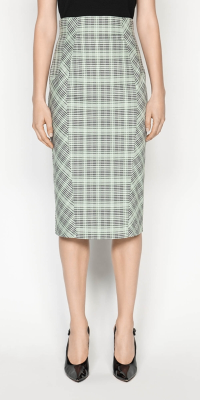 Made in Australia  | Check Pencil Skirt