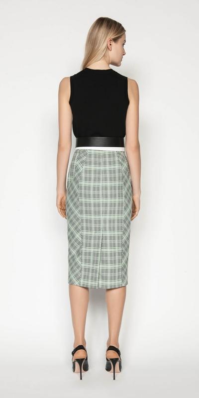Skirts | Check Pencil Skirt