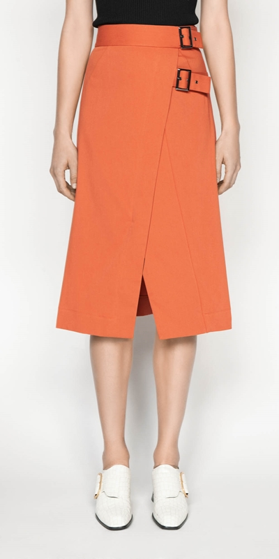 Sale  | Soft Cotton Midi Skirt