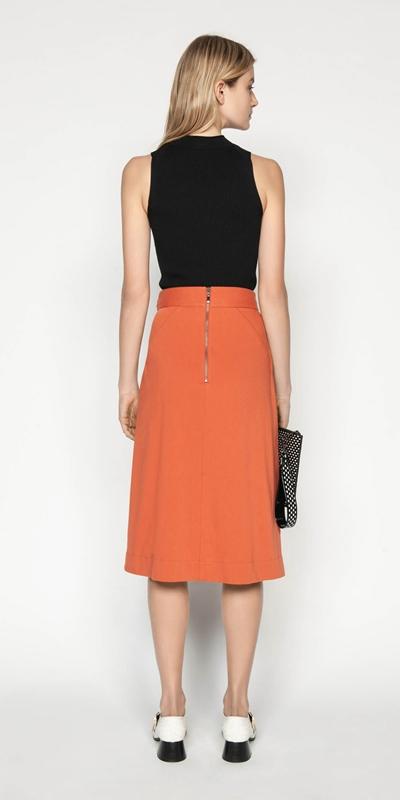 Skirts | Soft Cotton Midi Skirt