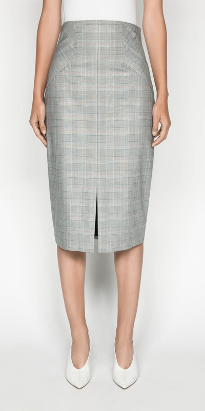 Sale  | Highlight Check Pencil Skirt