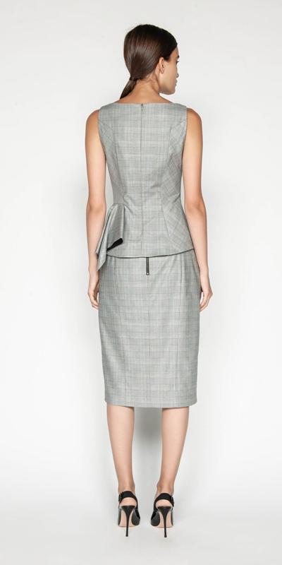 Skirts | Highlight Check Pencil Skirt