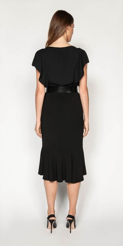 Skirts | Drapey Fluted Hem Skirt