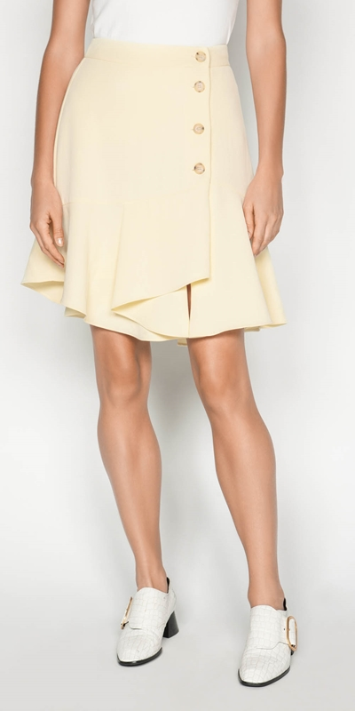Skirts | Crepe Wrap Front Skirt