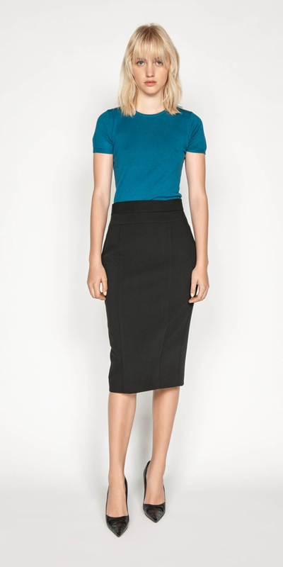 Skirts | High Waisted Pencil Skirt