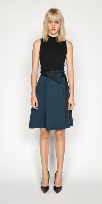 Wear to Work | Belted Wrap Skirt