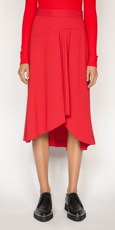 Sale  | Ruby Pleated Midi Skirt