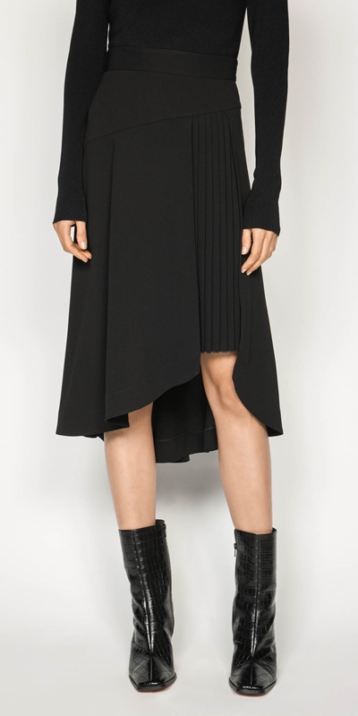 Made in Australia  | Ruby Pleated Midi Skirt