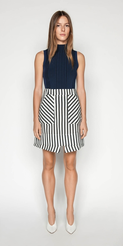 Sale | Linen Stripe Layered Mini