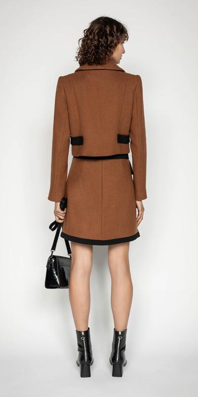 Skirts | Cinnamon Twill Mini Skirt