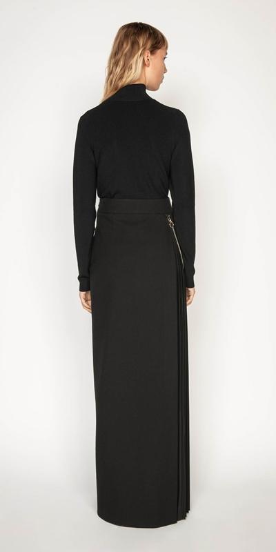 Skirts | Pleated Column Maxi Skirt