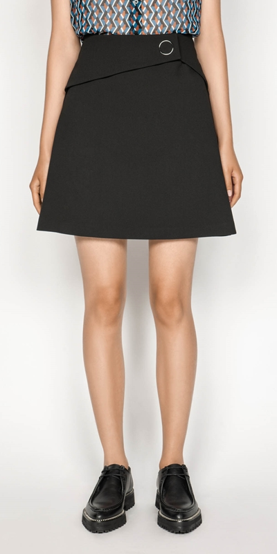 Skirts | Ring Snap Mini Skirt