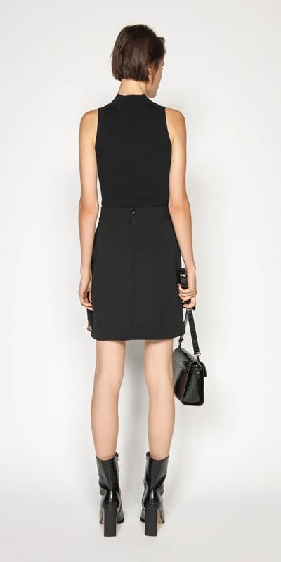 Skirts | Metallic Check Wrap Skirt