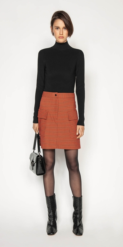 Sale | Russet Check Utility Skirt