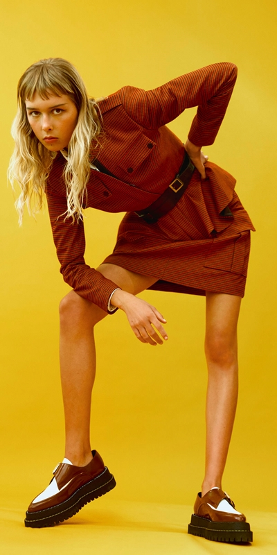 Wear to Work  | Russet Check Utility Skirt