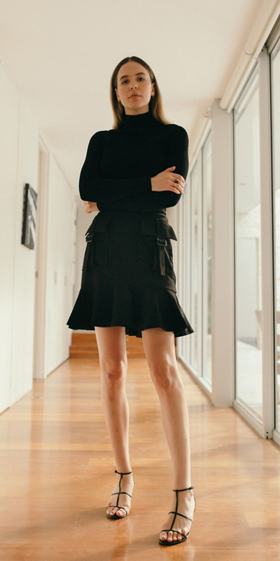 Work From Home  | Utility Mini Skirt