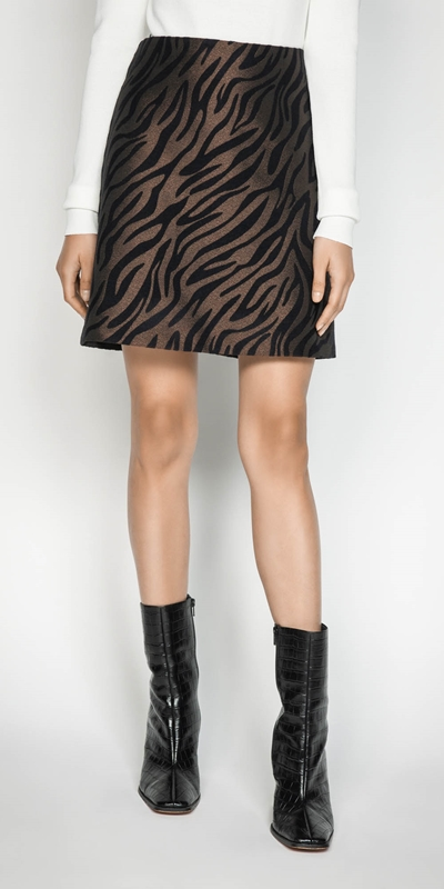 Made in Australia  | Zebra Jacquard Mini Skirt