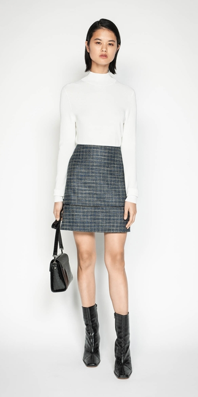 Wear to Work | Melange Tweed Mini Skirt