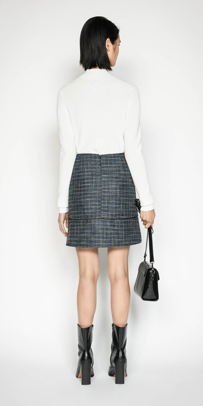 Skirts | Melange Tweed Mini Skirt