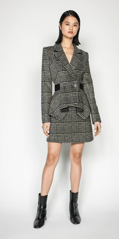 Made in Australia | Chenille Check Mini Skirt