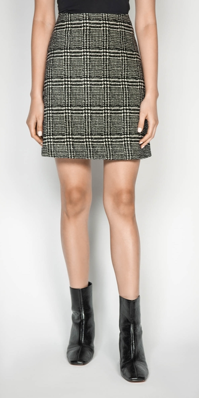 Sale  | Chenille Check Mini Skirt