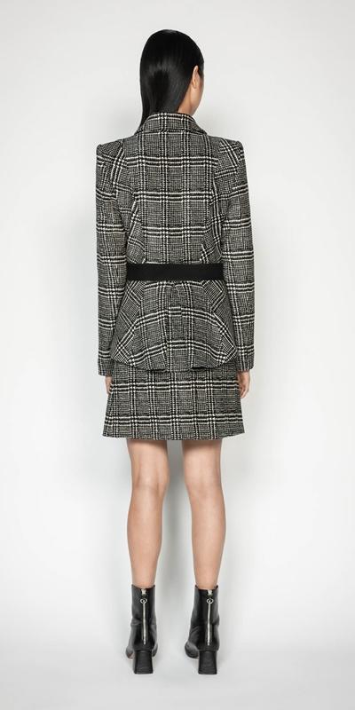 Skirts | Chenille Check Mini Skirt