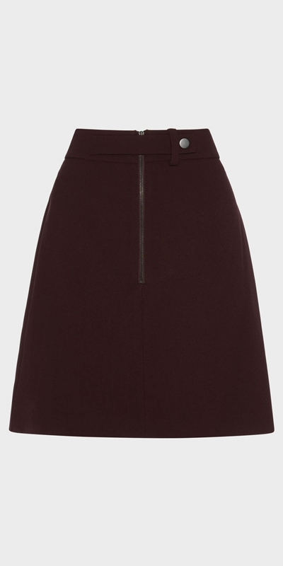 Skirts | Zip Front Mini Skirt
