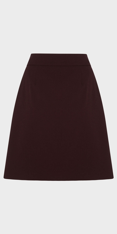 Wear to Work  | Zip Front Mini Skirt