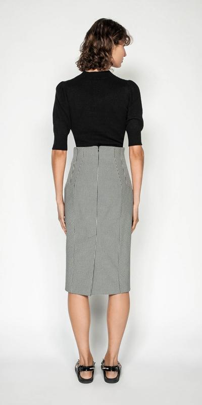 Skirts | Gingham Pencil Skirt