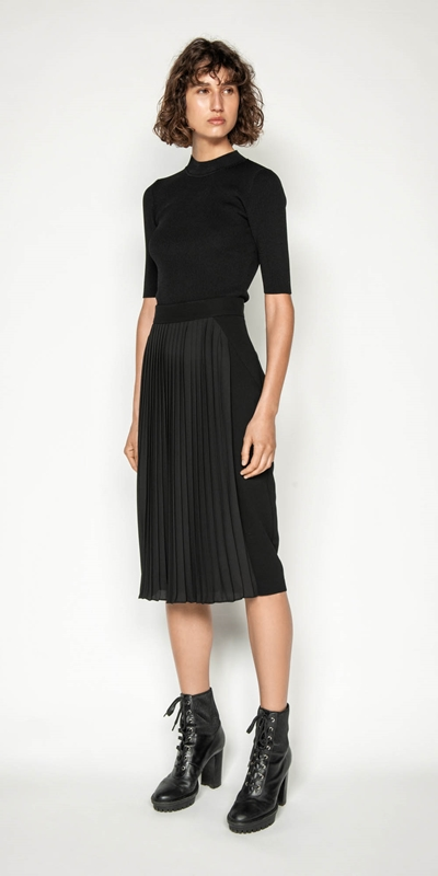 Wear to Work | Pleated Pencil Skirt