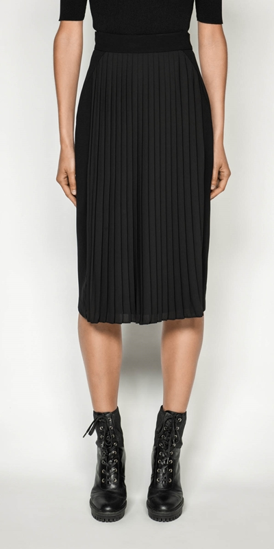 Skirts | Pleated Pencil Skirt