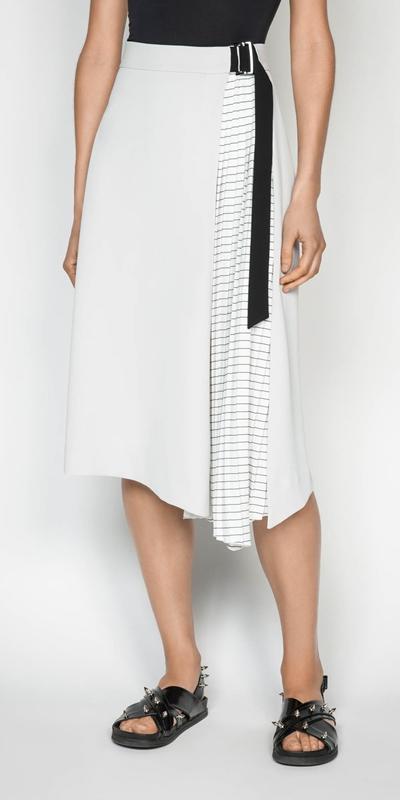 Skirts | Pleated Midi Skirt