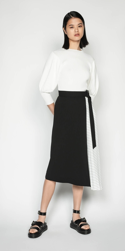 Skirts | Pleated Midi Skirt