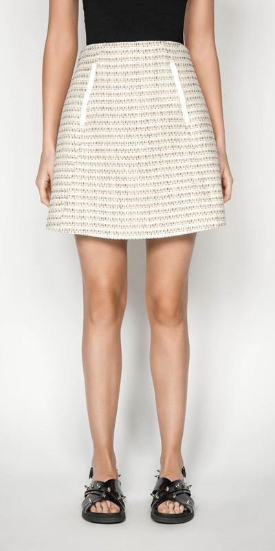 Skirts | Cotton Boucle Stripe Mini