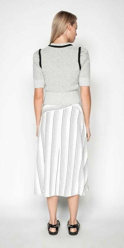 Skirts | Quattro Stripe Midi Skirt