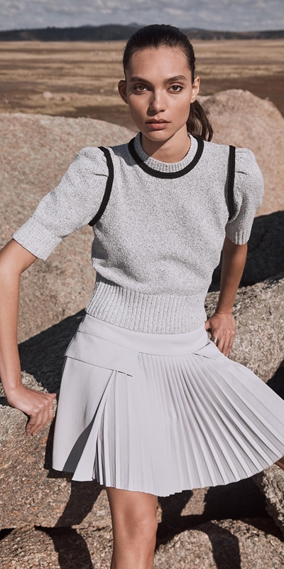 Made in Australia  | Silver Pleat Front Mini