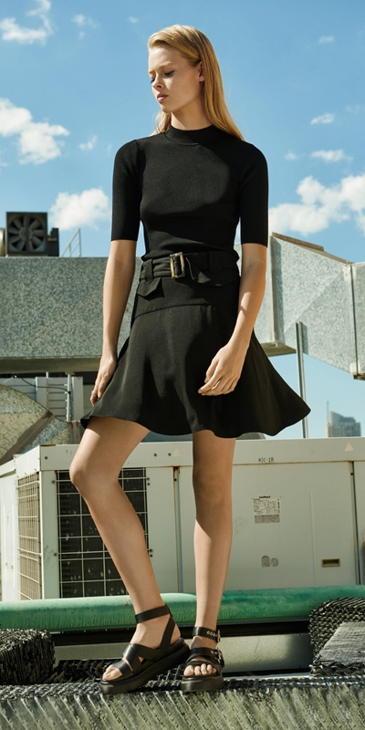Wear to Work  | Drapey Utility Skirt