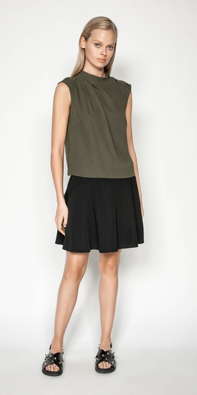 Sale | Drapey Utility Skirt