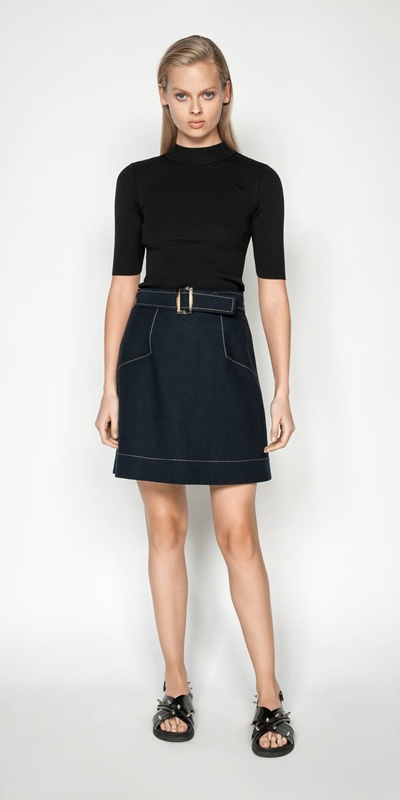 Made in Australia | Tencel Cotton Mini Skirt