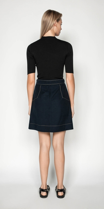 Skirts | Tencel Cotton Mini Skirt