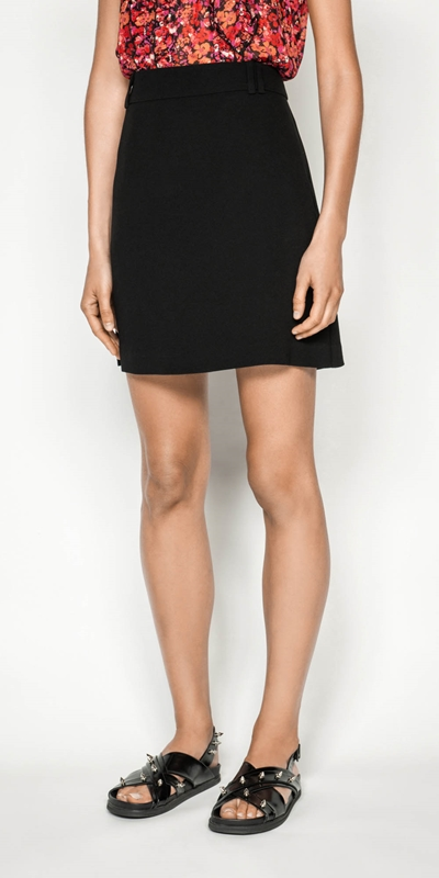 Skirts | Crepe Mini Skirt