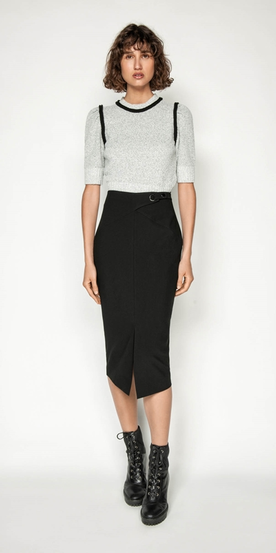 Wear to Work | Front Split Pencil Skirt