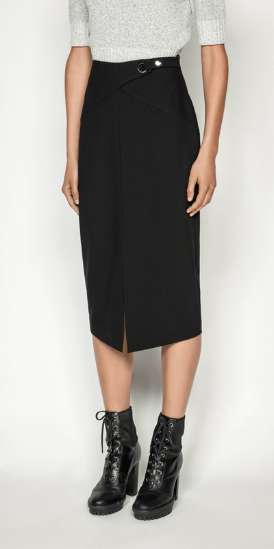 Skirts | Front Split Pencil Skirt