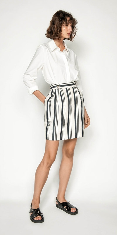 Made in Australia | Striped Linen Skirt