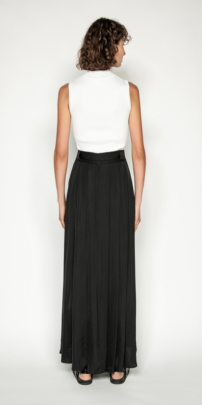 Skirts   Soft Satin Maxi Skirt