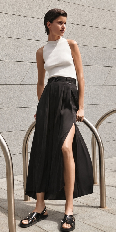 Made in Australia  | Soft Satin Maxi Skirt