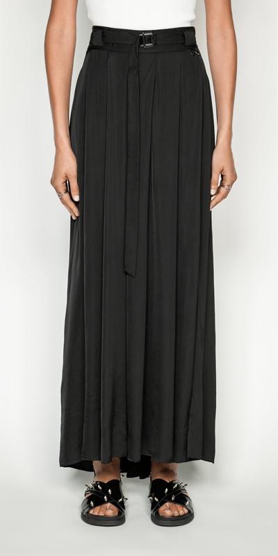 Skirts | Soft Satin Maxi Skirt