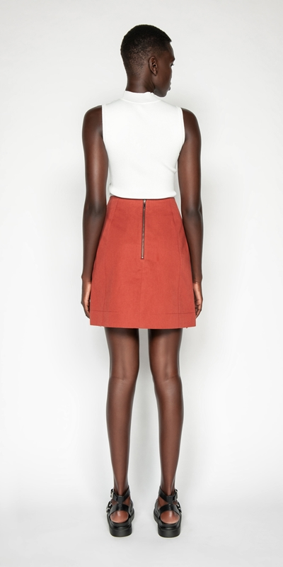 Skirts | Cotton Linen Aline Skirt